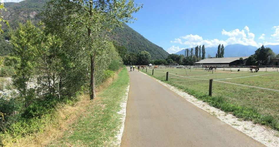 Weg an der Maggia Richtung Ascona