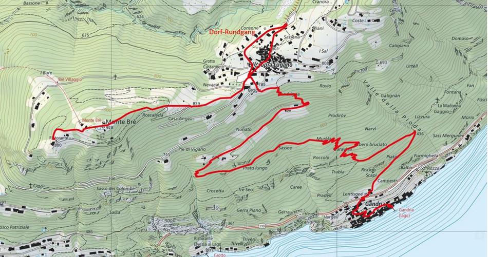 Kartenausschnitt Gandria