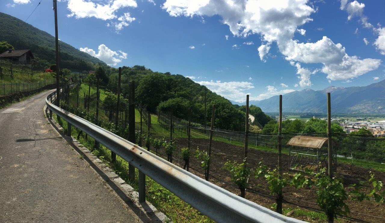 Weg oberhalb Robasacco