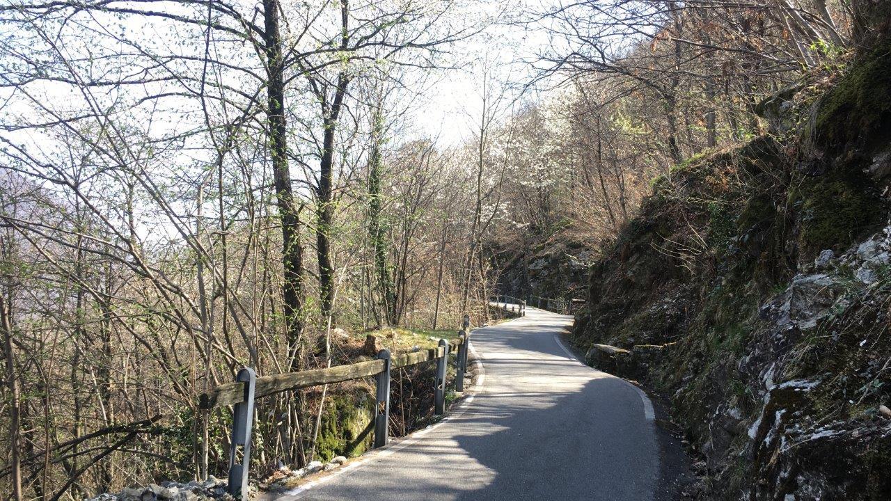 Weg hinauf nach Arcegno