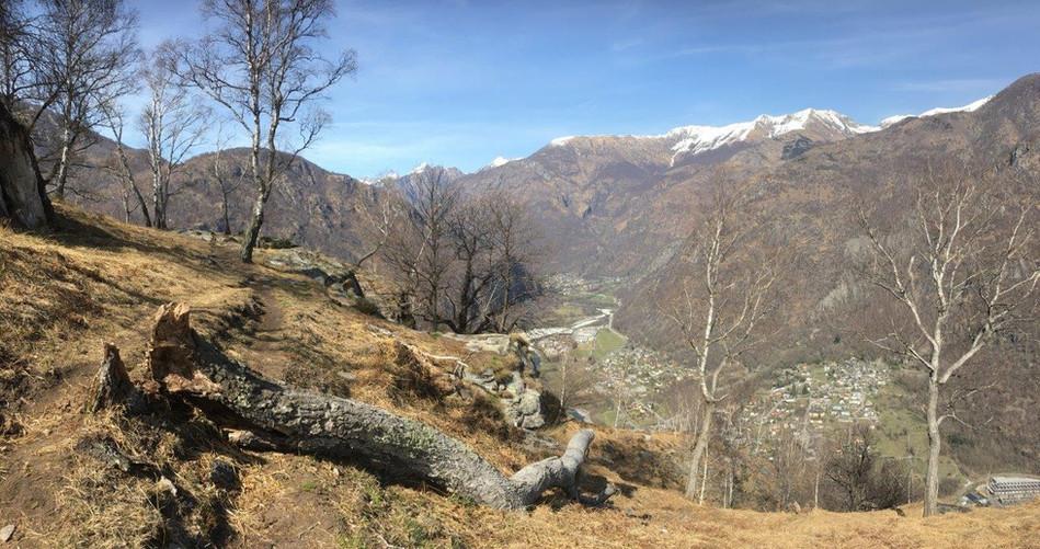 Avegno (vorne) und Gordevio im Hintergrund