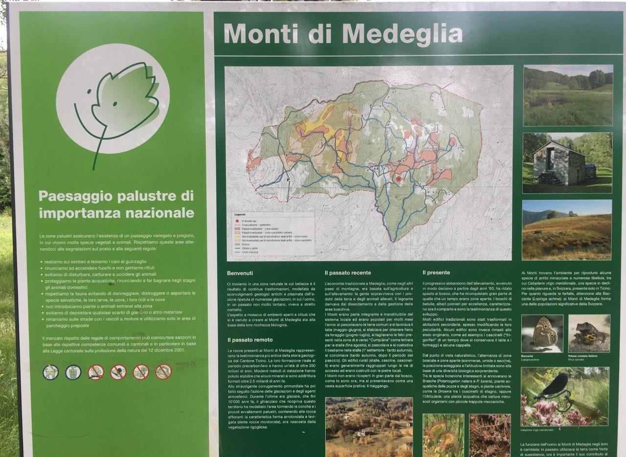 Infotafel Monti die Medaglia