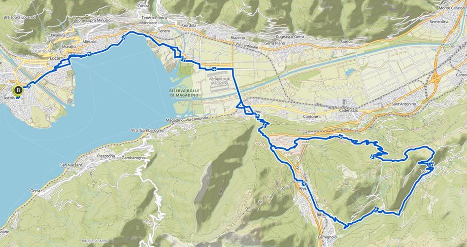 Kartenausschnitt Mt.Medeglia-Isone
