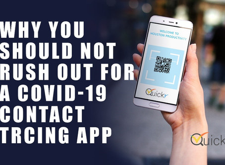 Why you should not rush out for a Covid-19 contact tracing app.