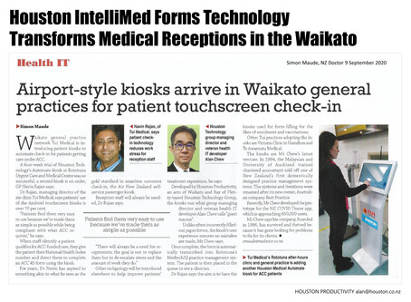 Houston IntelliMed is transforming New Zealand's Medical Receptions.