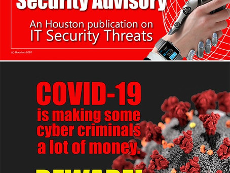 Houston Make-IT-Safe Security Alert about COVID-19 cyber scams