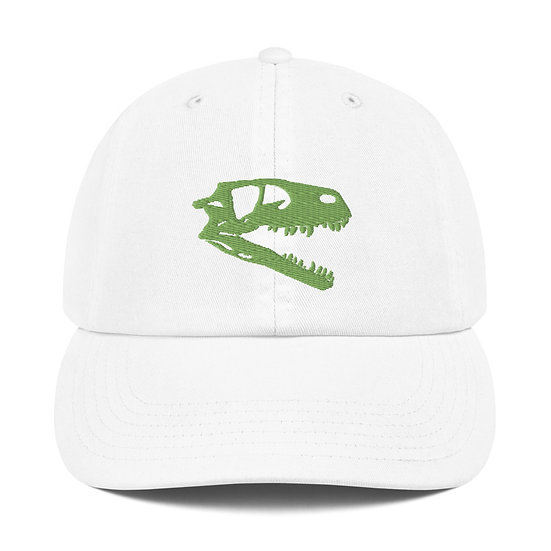 Edward Cope Dinosaur Hunting Apparel Coelophysis Champion Dad Cap (Green)
