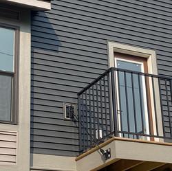 Painted Balcony Door