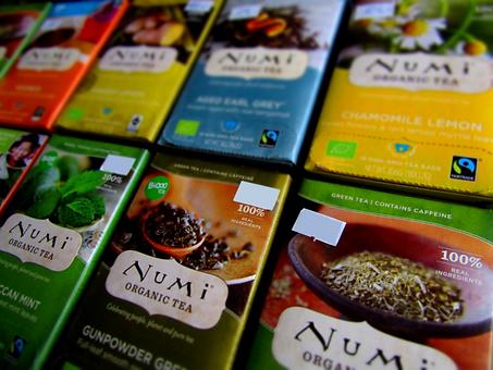 Čaje Numi organic, Sohntea, Yogi tea - Praha 2.