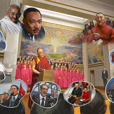Man of Peace: the Illustrated Biography of the Dalai Lama of Tibet