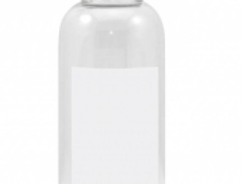 Botella de Vidrio con Cuadro Blanco