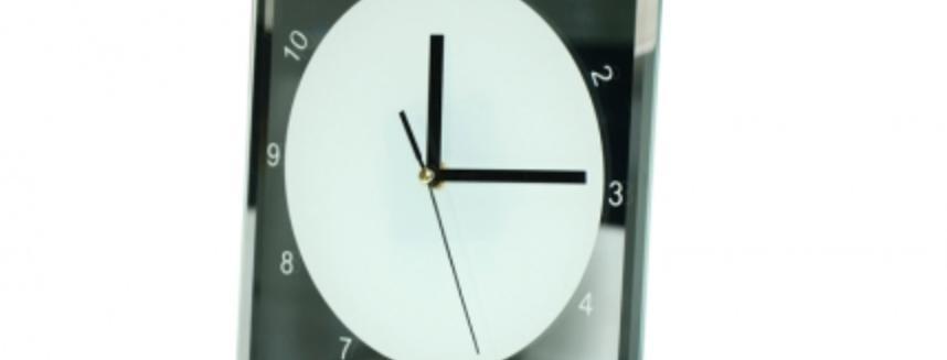 Reloj de Vidrio Cuadrado