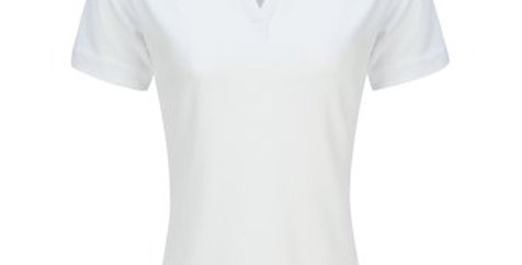 Blusa Polo Dry Fit Blanca para Mujer