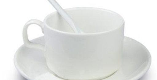 Taza Blanca con Cuchara