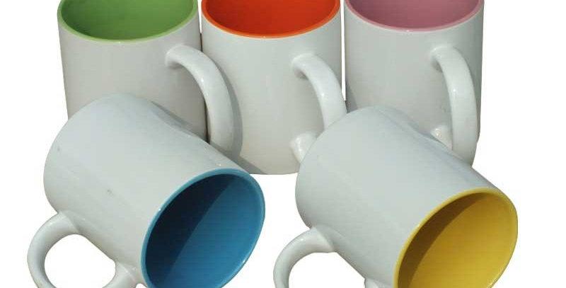 Taza con interior de color