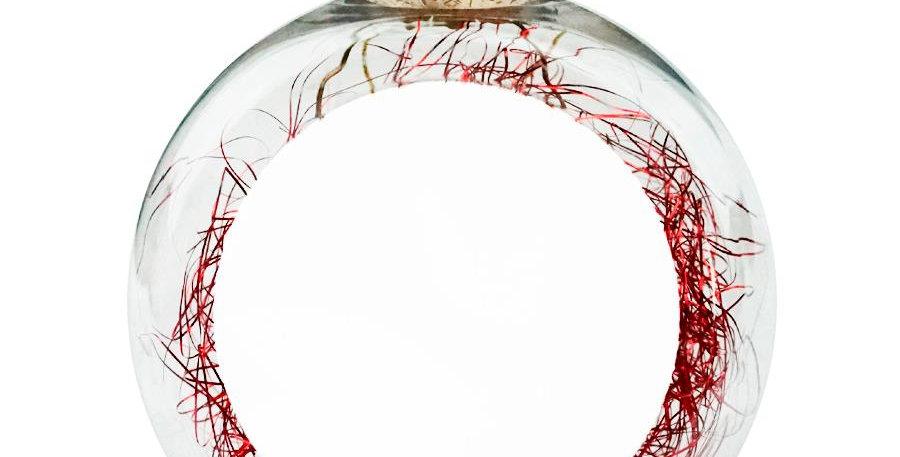 Esfera Transparente con Relleno de Color