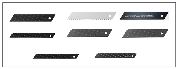 OLFA UTILITY KNIFE BLADES, SNAP-OFF BLADES, NON -SNAPPING BLADES SUPPLIERS IN INDIA