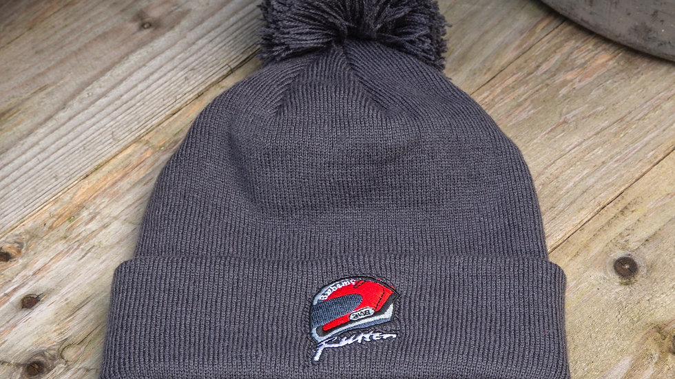 Rutter Embroidered Beanie - Grey