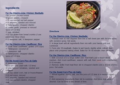 cilantro lime turkey meatballs with pico
