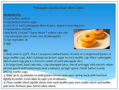 PINEAPPLE UPSIDE DOWN MINI CAKES RECIPE.
