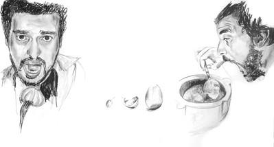 """""""Guillaume, une tête d'ail et au lit"""" N°7 série """"Food cast"""""""