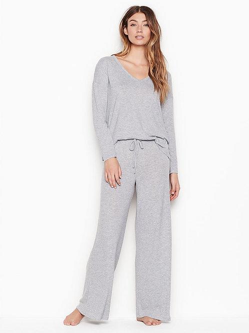 Пижама от VICTORIA'S SECRET Cozy Wide-leg PJ Set (Grey)