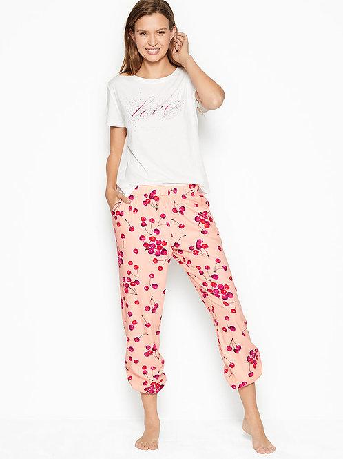 Пижама Victoria`s Secret Cotton & Flannel Long Lounge PJs (Сherry)