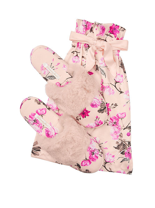 Домашние тапочки Виктория Сикрет (Pink Flowers)