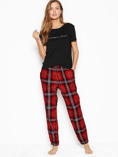 Пижама Victoria`s Secret Cotton & Flannel Long Lounge PJs