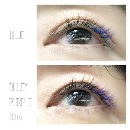 【カラーエクステ】ブルー?ブルー×パープル?どちらがお好きですか?