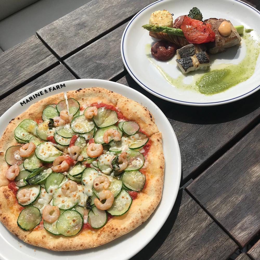 海鮮ピザ ランチ
