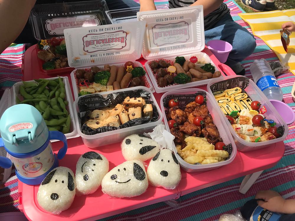 【舎人公園】でピクニック カラフルなお弁当