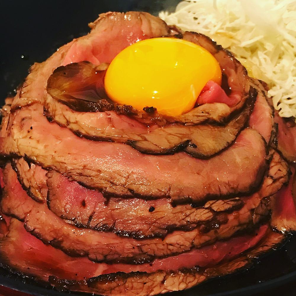 ローストビーフ丼 美味しい ランチ 赤坂 赤坂見附 肉