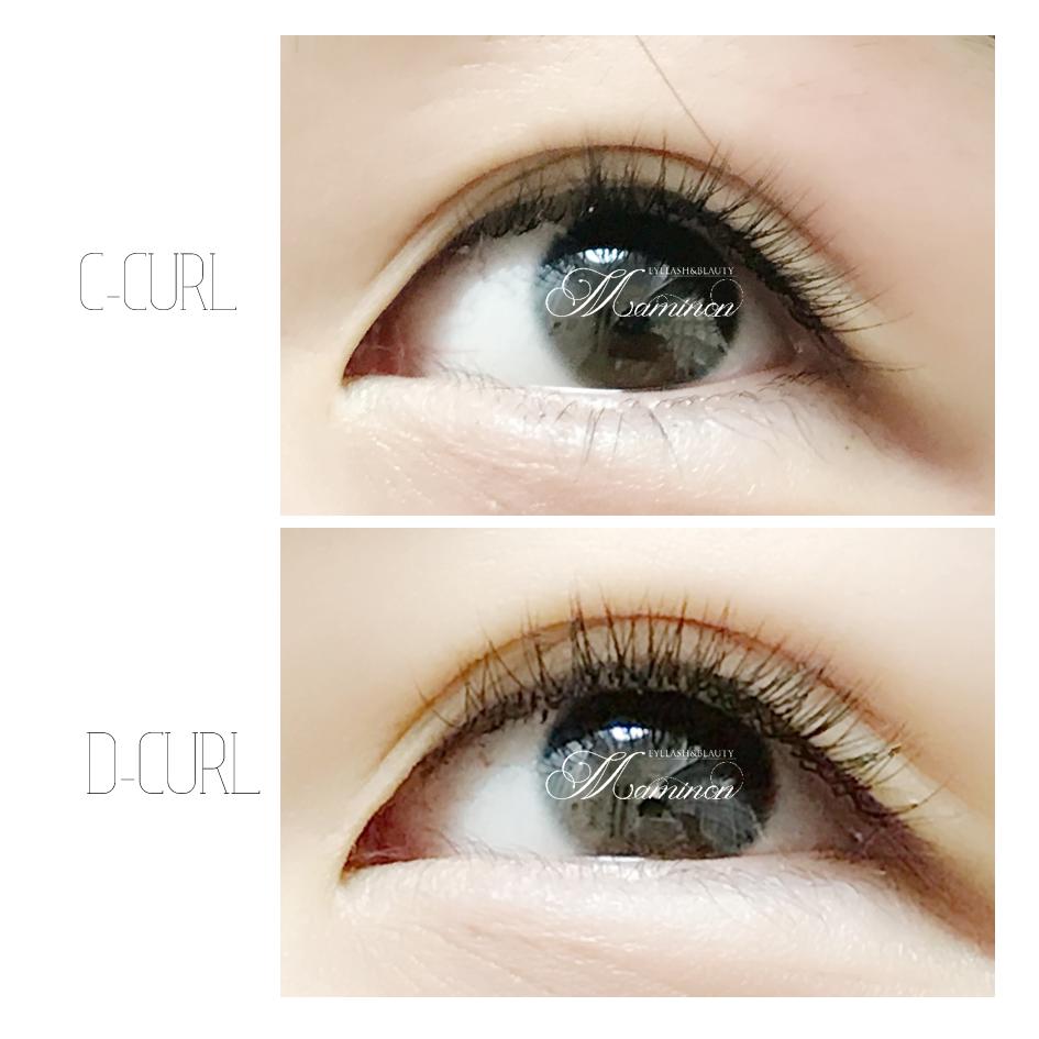 【矯正エクステ】CカールとDカールの比較