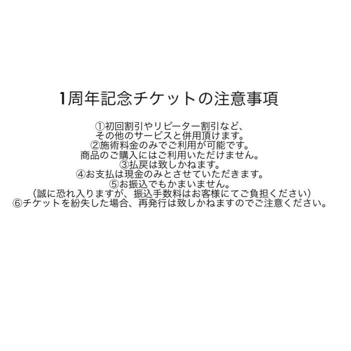 【1周年記念】注意事項