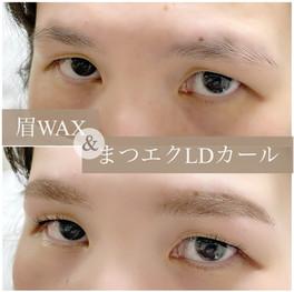眉WAX・まつげエクステ/並行眉メイク・下向きまつげ・逆さまつげ・LDカール・一