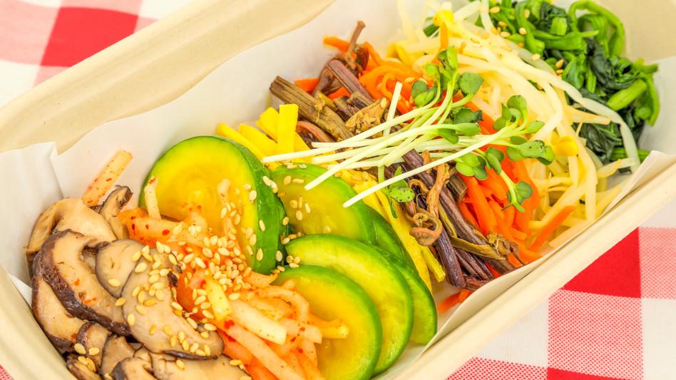 피크닉 비빔밥 채소