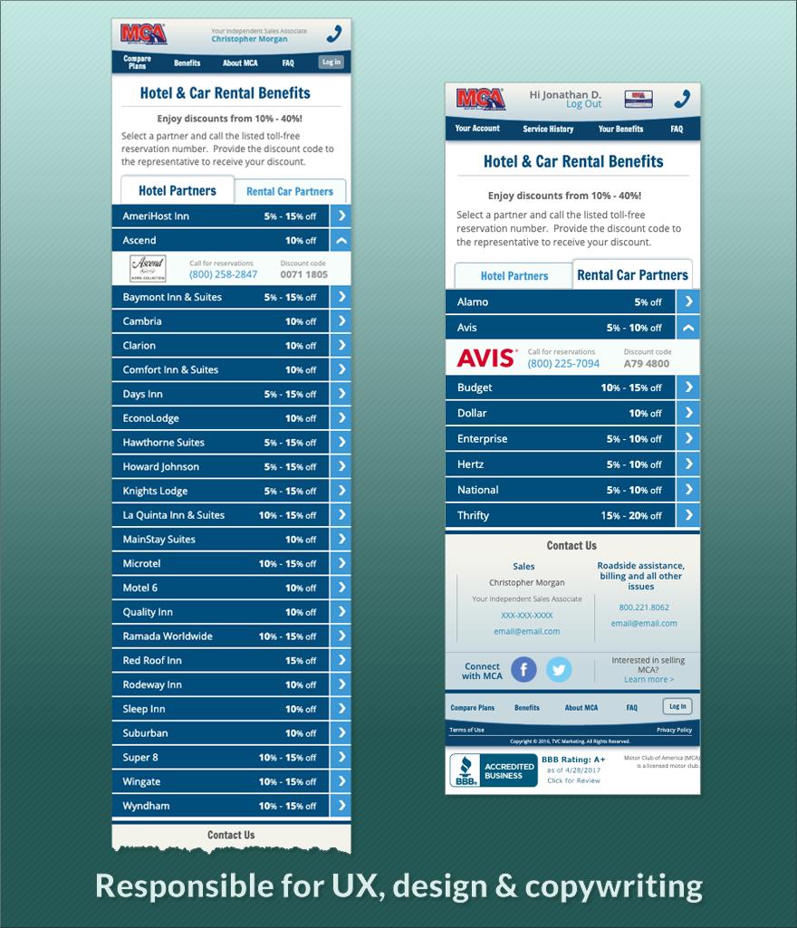 Benefits: Hotel & Car Rentals