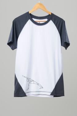 raglan masculina cinza/branca silk