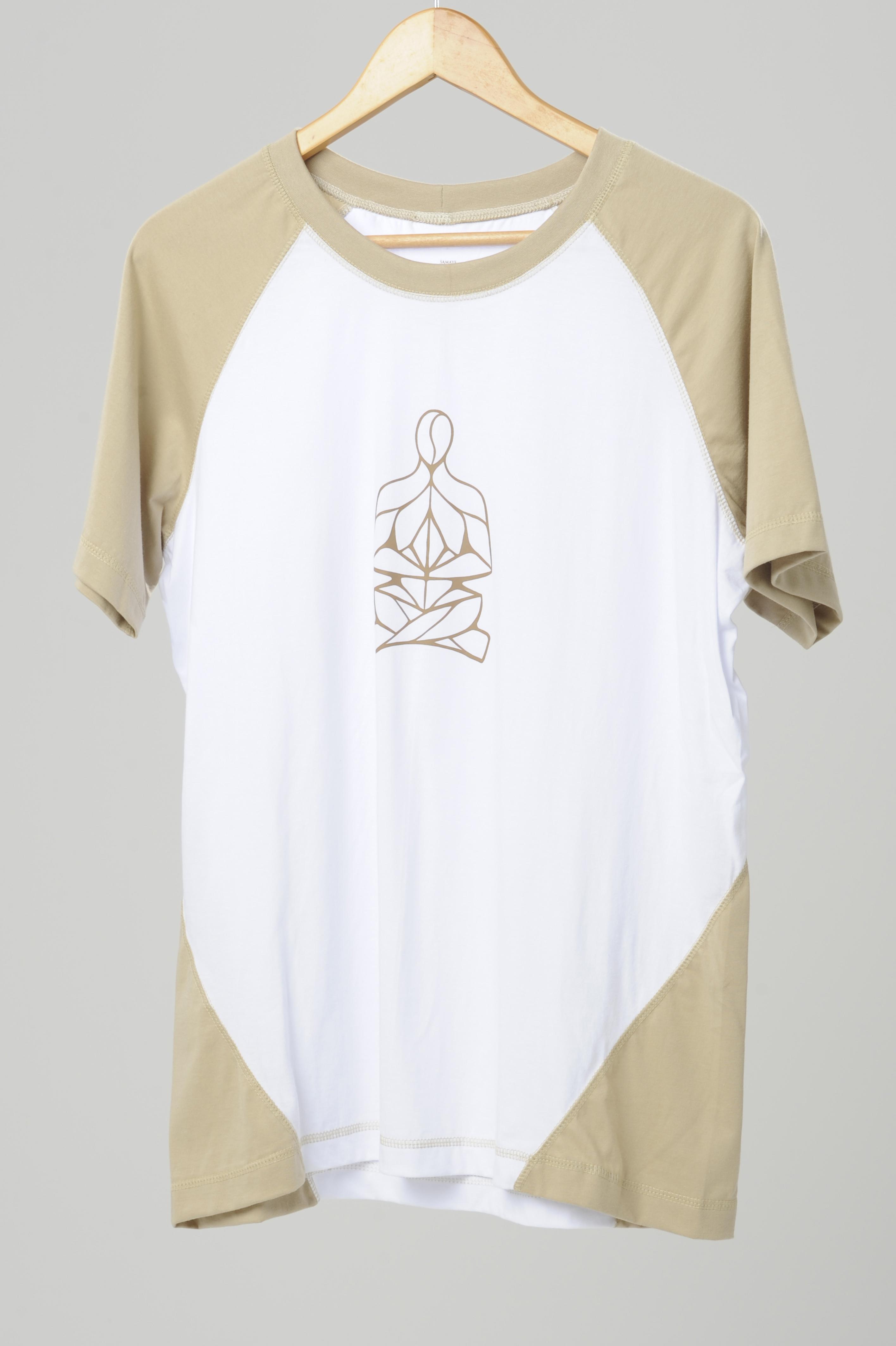 raglan masc caramelo/branca silk
