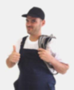 Plombier heureux