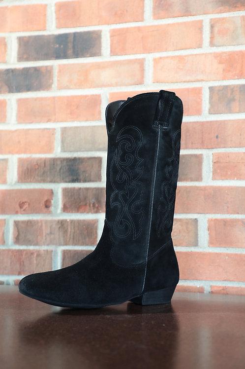 Black Suede Pro Dance Boot - Low Heel