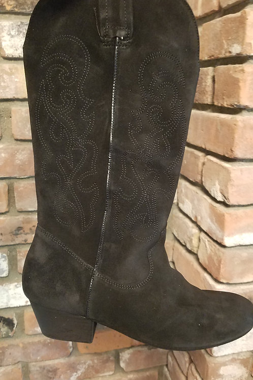 Black Suede Pro Dance Boot