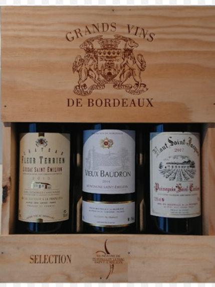 Vin rge coffret bois 75cl x3 (ref : w51227)