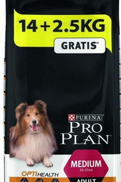 Proplan chien  medium adult 14kg+25 (ref : w65735)