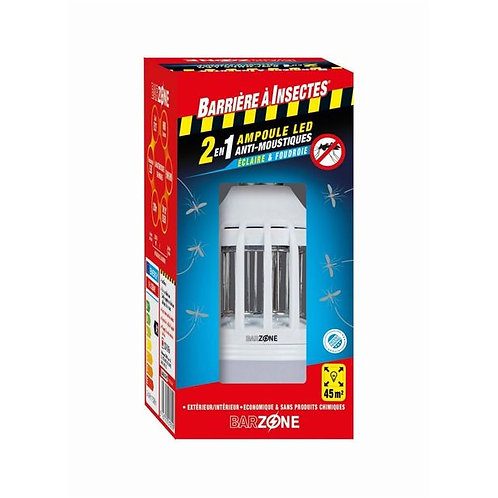Ampoule led anti-moustiques 2 en 1 - étui 1 ampoule barzone (Ref : X84946)