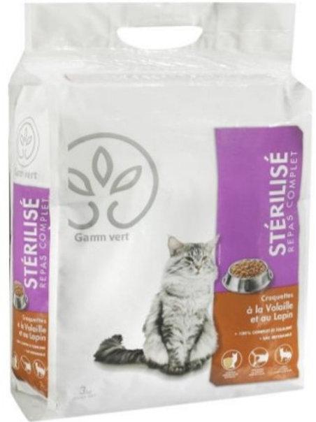 Caticaf chat sterilise 3kg Gamm Vert (ref : w28877)
