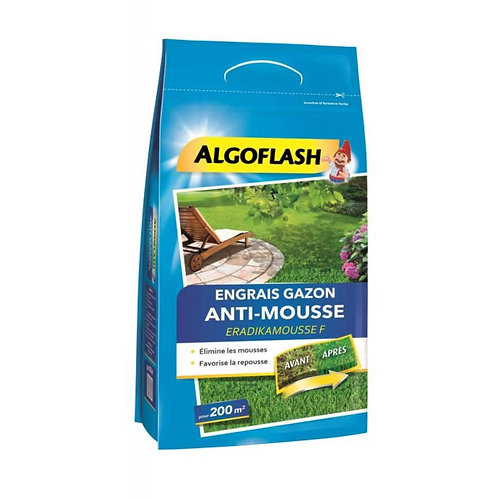 Engrais gazon anti-mousse 6kg algoflash (Ref : X88927)