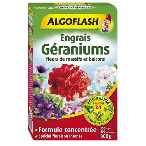 Engrais géraniums et plantes fleuries 800g algoflash (Ref : W16819)
