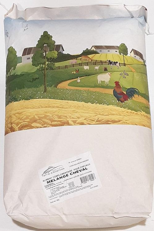 Aliment mélange pour chevaux 20kg (ref : q11735)